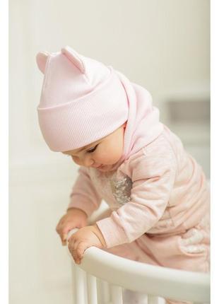 😍 шапочки в рубчик шапка с ушками 🔥