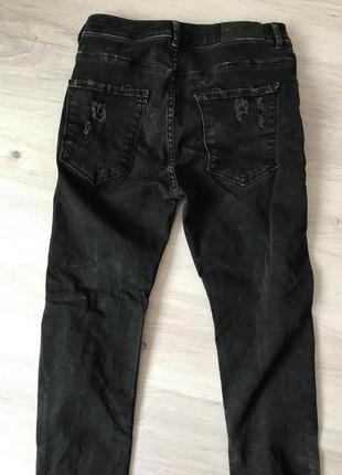 Чёрные джинсы bershka с дырками