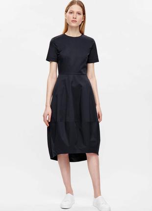 Новое! стильное платье в темно синем цвете cos