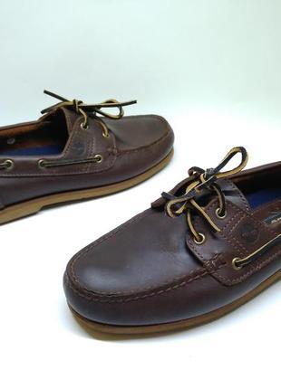 Кожаные туфли топсайдеры timberland 44 оригинал