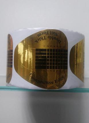 Формы для маникюра золотые 500 шт