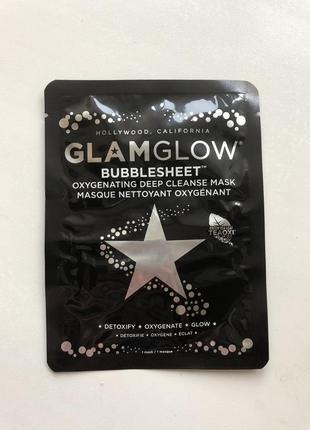 Глубоко очищающая маска для лица glamglow bubblesheet