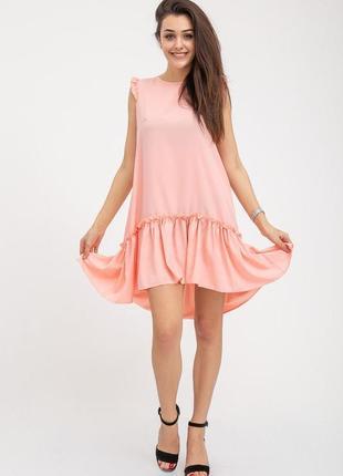 Сарафан, xs-s-m-l,  112r413,  платье, платьице с оборками, с рюшами, с воланом