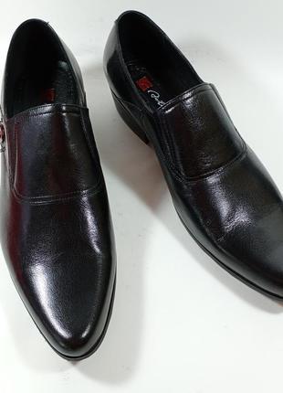 Aiciberllucci классические туфли кожа каблук размеры:41,42,43,44,45