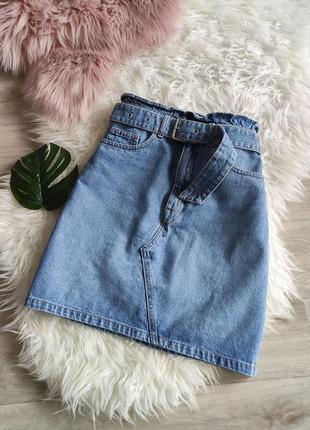 Акция! 1+1=3новая джинсовая юбка h&m