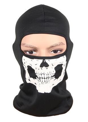Балаклава маска с рисунком черепа (челюсть), унисекс