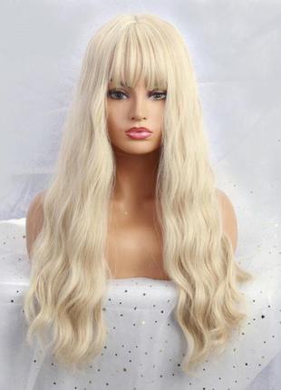 Блонд с челкой