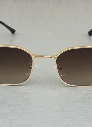 Bvlgari очки женские солнцезащитные коричневые в золоте с градиентом