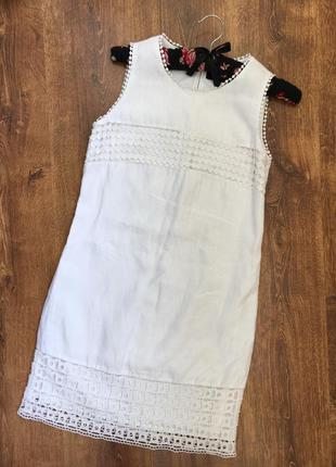 Шикарное льняное платье футляр