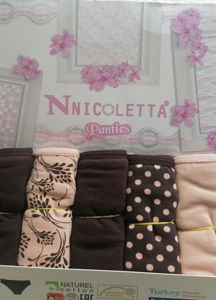 Трусики неделька nicoletta упаковка 7-шт турция хлопок.