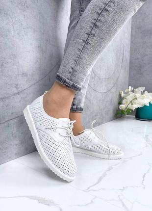 💥 модные удобные кожаные туфли лоферы с перфорацией мокасины