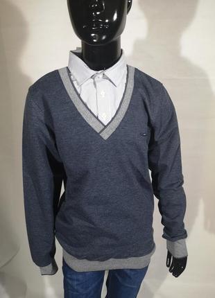 Джемпер реглан рубашка - обманка
