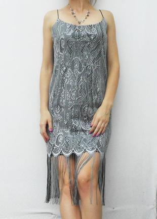Кружевное нарядное вечернее летнее платье evening wear