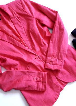 Супермодный классический хлопковый розовый пиджак жакет от amisu