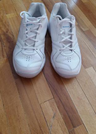 Кроссовки белые/кожаные