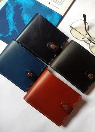 Кожаный кошелёк, шкіряний гаманець ручної роботи