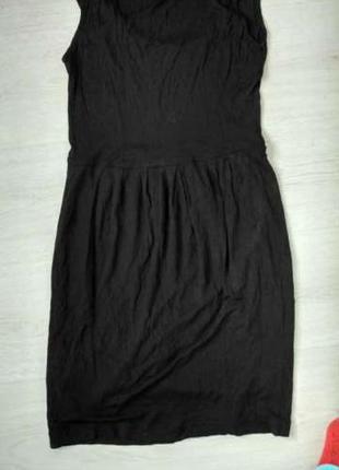 Черное платье сарафан mango