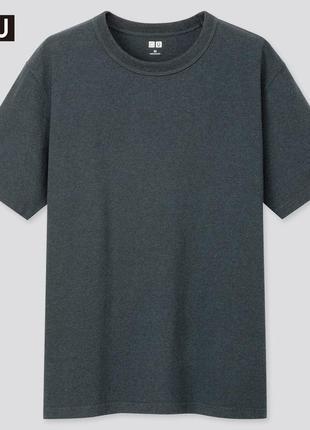 Мужская классическая базовая однотонная футболка uniqlo u