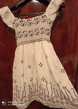 Літнє плаття - сарафан на підкладці