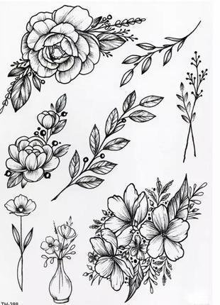 Тимчасові татуювання , временные татуировки