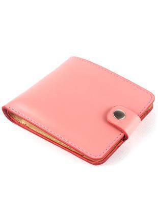 Кожаное портмоне п1-26 (нежно-розовое)