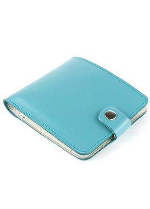 Кожаное портмоне п1-27 (нежно-голубое)