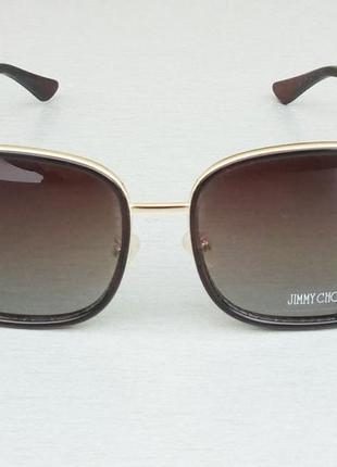 Jimmy choo очки женские солнцезащитные темно коричневые с градиентом