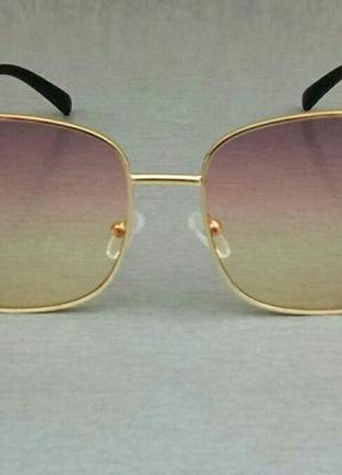 Jimmy choo очки женские солнцезащитные с розово желтым градиентом