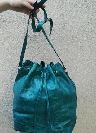 Итальянская сумка-мешок,торба из 100% кожи страуса,на одно плечо, vogt