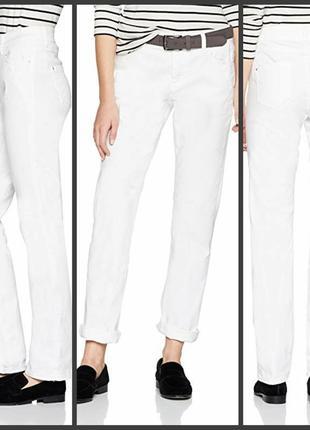 Прямые белые джинсы хлопок білі джинсы бавовна s.oliver