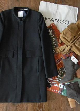 Пальто с шерстью mango