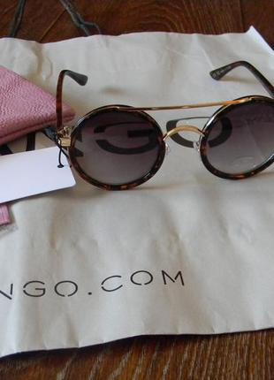 Новые солнцезащитные очки округлой формы mango