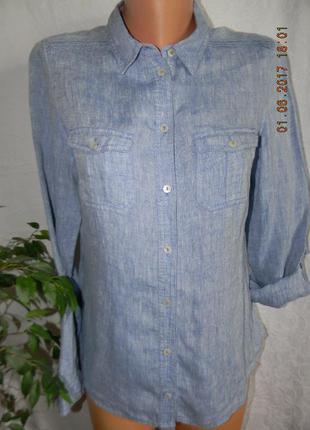 Блуза-рубашка лен marks & spencer