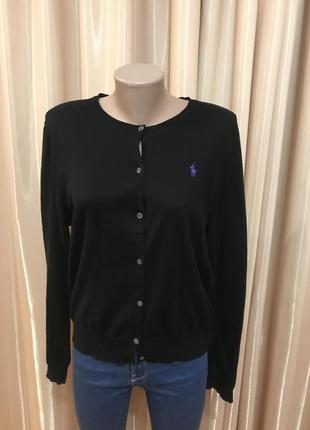 Свитер с пуговицами светр polo ralph lauren чорний оригинал