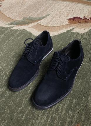 Мужские темно-синие замшевые ботинки, мешти, hugo boss