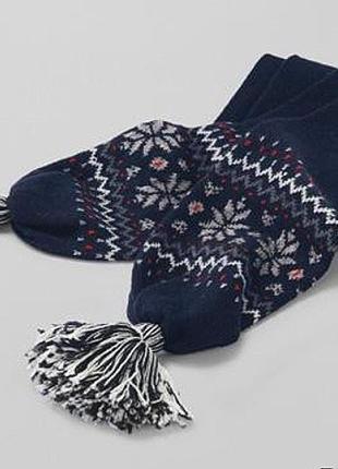 Теплый шерстяной вязаный шарф tcm tchibo германия