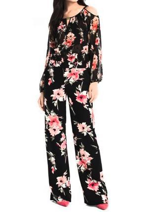 Прямые свободные  брюки цветочный принт  f&f