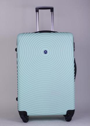 Чемодан ударопрочный,большой чемодан на колёсах,чемодан в самолёт,валіза,валіза на колесах