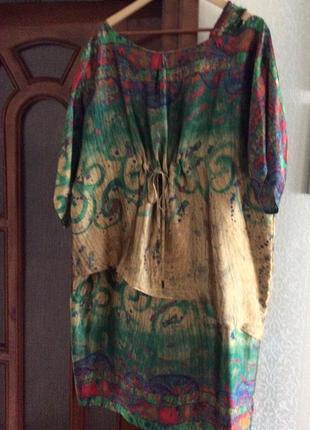 Дизайнерська сукня з натурального шовку
