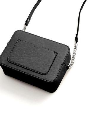 Mango-оригинал! новая с биркой стильная черная сумка кроссбоди через плечо от манго