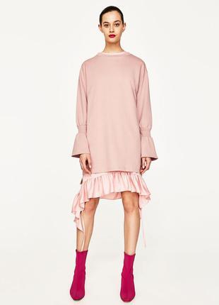Zara оригінальне коттонове платячко з воланами розмір м