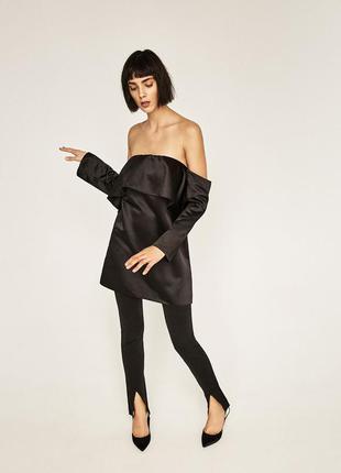 Розпродаж zara мега стильне трендове плаття з якісної тканини розмір л маломерит на м