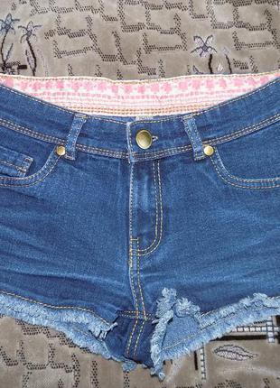 Коротенькие джинсовые шортики denim