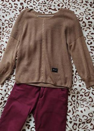 Кофточка коричневая женская новая 48 размер пуловер