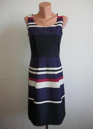 Натуральное котоновое платье в полоску h&m