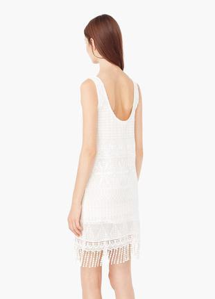 Платье белое mango, р. м