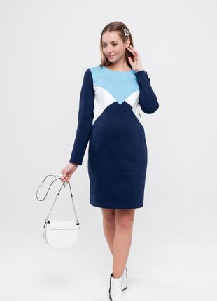 Платье для беременных и кормящих с начесом