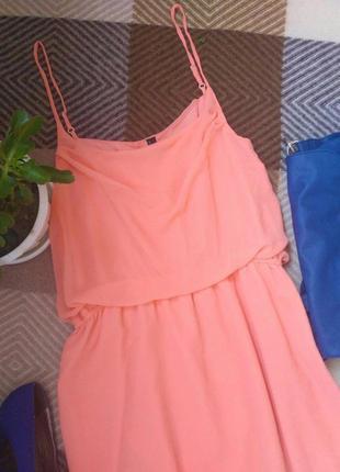 L-xl vero moda шикарное шифоновое платье