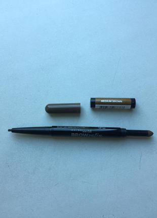 Коричневый карандаш для бровей brow satin