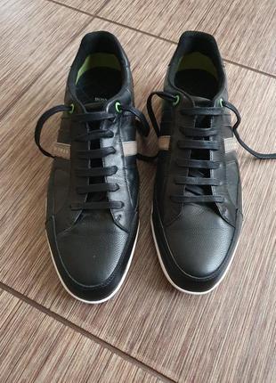 Крутые мужские спортивные кроссовки , туфли hugo boss, натуральная кожа, оригинал